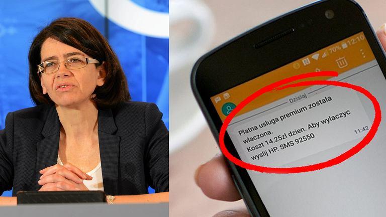 Minister Anna Streżyńska chce ukrócenia przekrętów związanych z SMS Premium