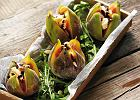 Figi pieczone z kozim serem i orzeszkami piniowymi
