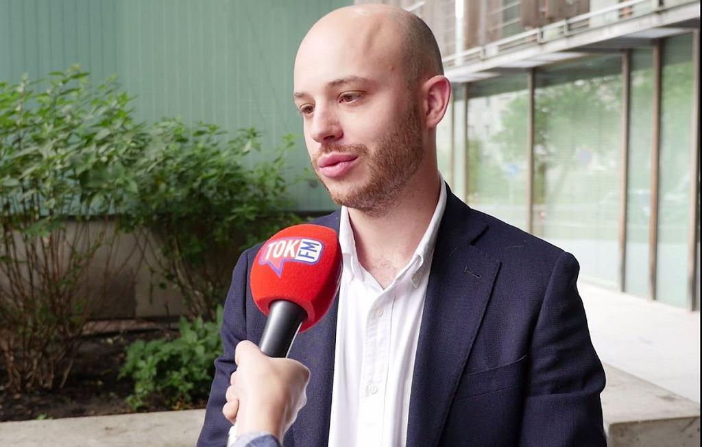 Jan Śpiewak podczas rozmowy z tokfm.pl.