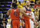 Marcin Gortat w meczu Indiana Pacers - Washington Wizards