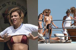 Anja Rubik wypoczywa we francuskim Saint-Tropez. Paparazzi zrobili jej zdj�cia podczas zabawy na jachcie. Towarzyszy�y jej modelki Victoria Secret, takiej jak Alessandra Ambrosio, Elsa Holsk czy Dozen Kroes.