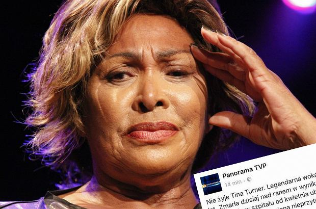 Panorama TVP podała na Facebooku nieprawdziwą informację o śmierci Tiny Turner. Wpis już zniknął, ale internauci ostro skrytykowali stację.