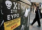 ''Nie dla euro'' - taki plakat wisi na jednej z ulic Aten