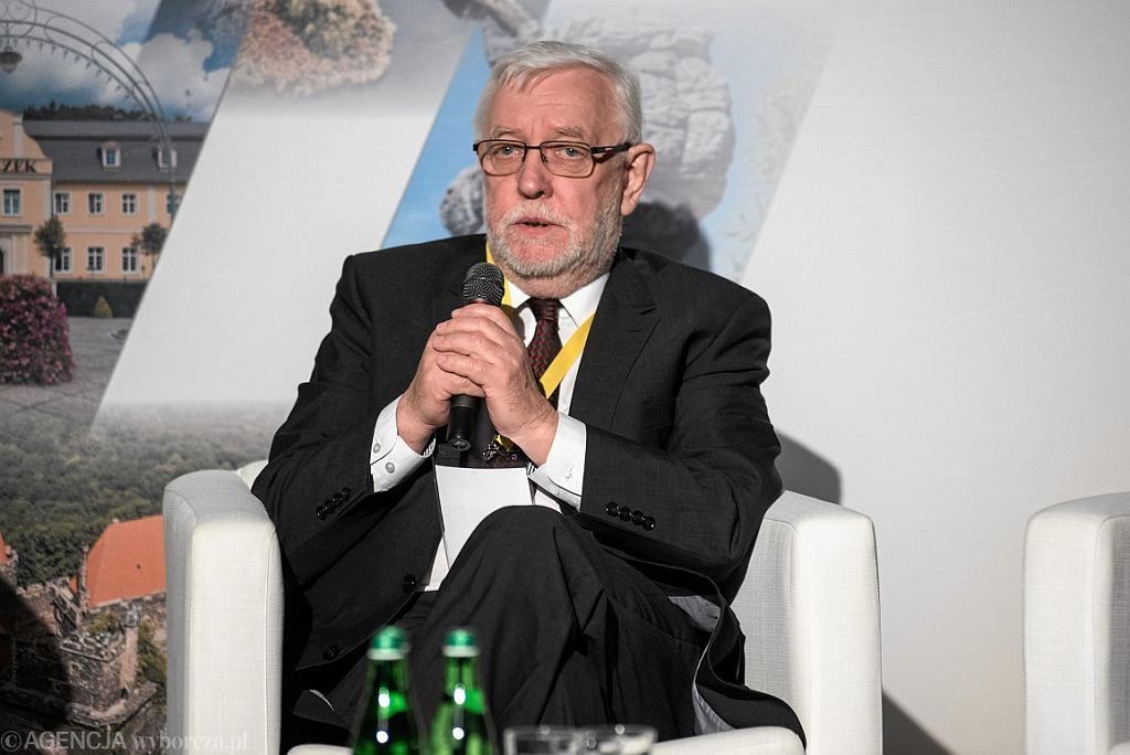 Były prezes Trybunału Konstytucyjnego Jerzy Stępień (fot. Kornelia Głowacka-Wolf/AG)