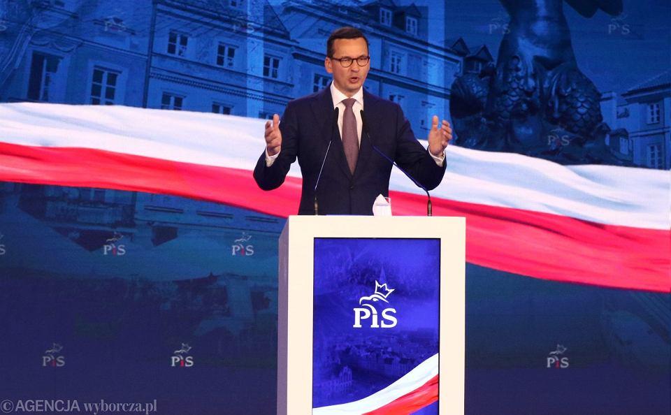 Premier Mateusz Morawiecki podczas Konwencji Wyborczej partii Prawo i Sprawiedliwość, 2 września 2018.