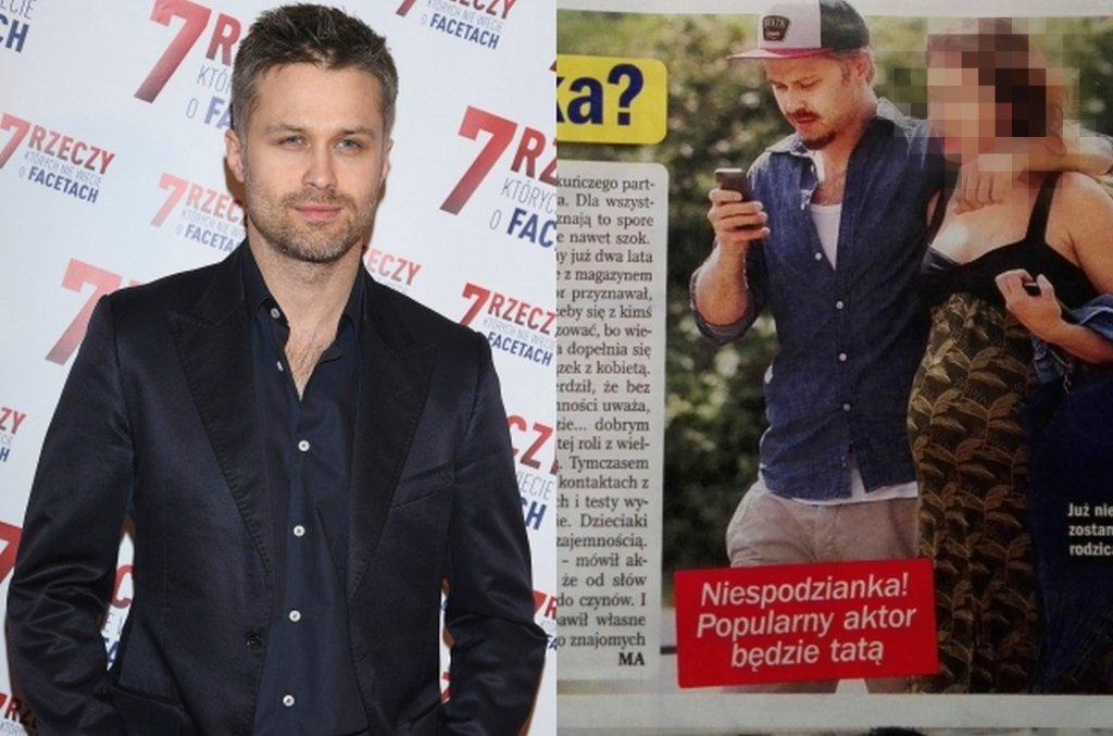 Maciej Zakościelny z partnerką
