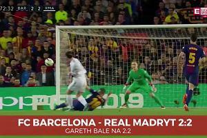 La Liga. Barcelona - Real. Piękny gol Garetha Bale`a [ELEVEN SPORTS]