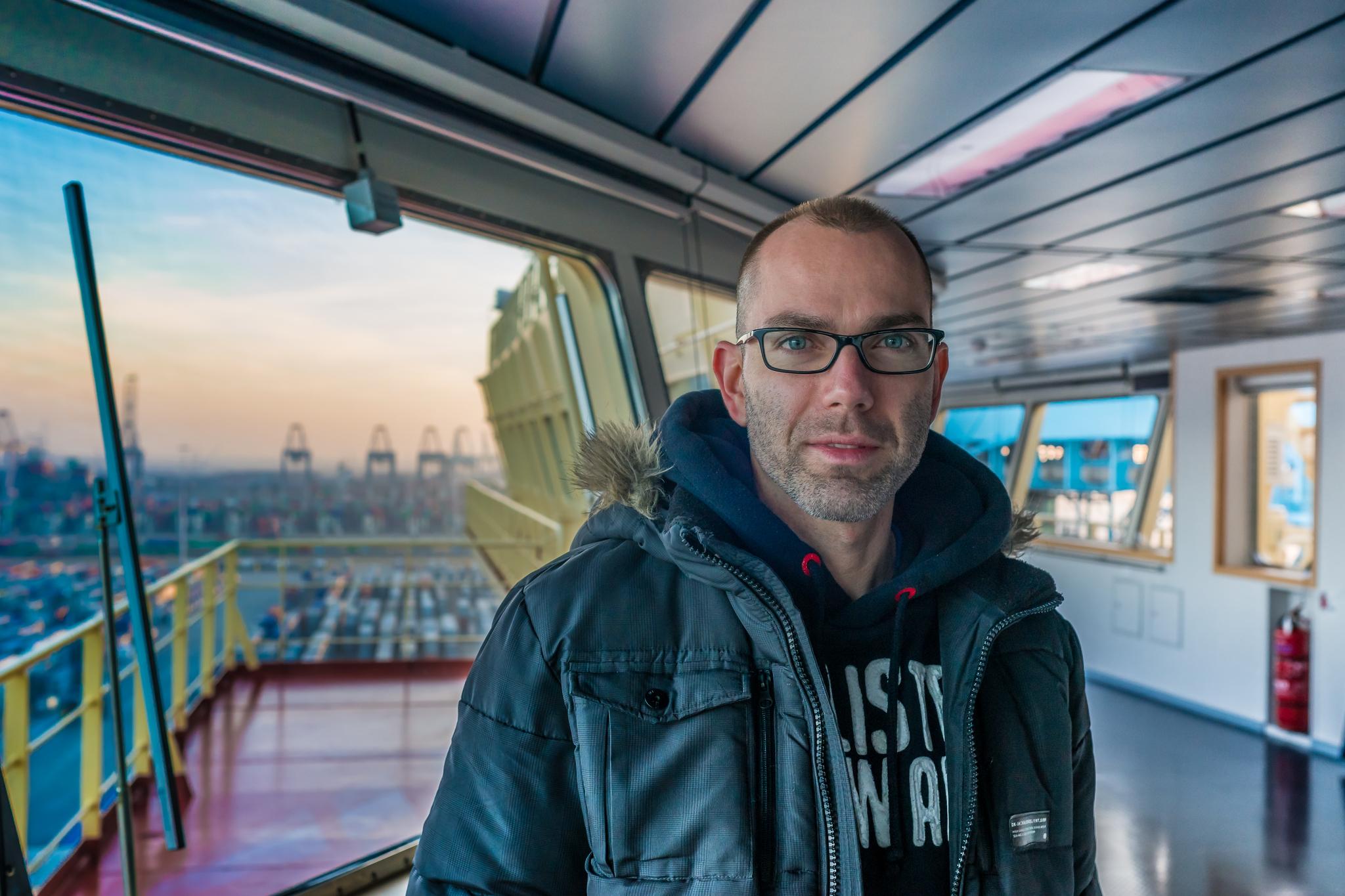 Marko Mihajic, jeden z naszych gospodarzy na Mayview Maersk, odpowiedzialny za kontakt z mediami (fot. Robert Urbaniak)
