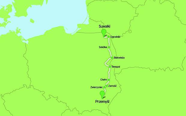 Szlakiem wschodniego pogranicza, rowery, szlaki rowerowe