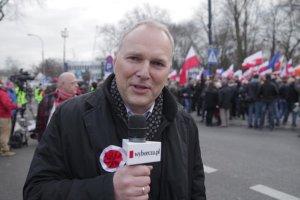 """""""B�d� kolejne demonstracje"""" zapowiada pierwszy zast�pca redaktora naczelnego GW Jaros�aw Kurski"""