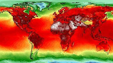 Pogoda na świecie na mapie University of Maine Climate Reanalyzer