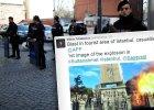 Turecka policja i zdjęcie eksplozji