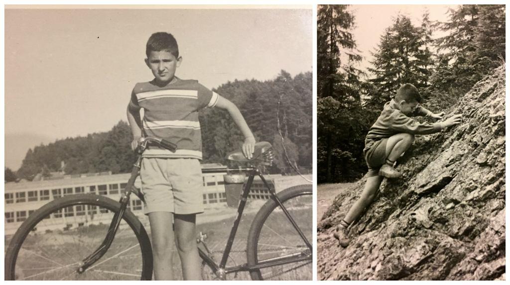 Sarnecki jako dziecko - na wakacjach w Sopocie i w Zakopanem (fot. archiwum prywatne)