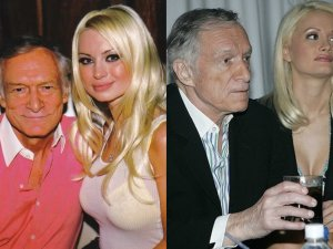 Hugh Hefner i Izabella St. James/Hugh Hefner i Holly Madison