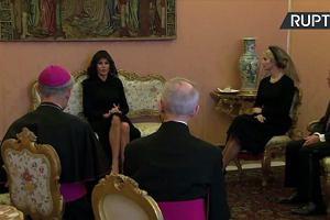 D. Trump z rodziną na audiencji u papieża Franciszka. Melania i Ivanka zakryły głowy