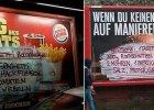 Brandalizm! Miejscy partyzanci atakuj� reklamy fast food�w i podaj� przepisy na tanie dania