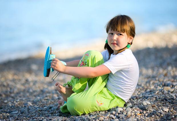 Buty dziecięce na plażę