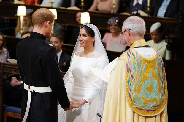Książe Harry i Meghan Markle w trakcie ślubu