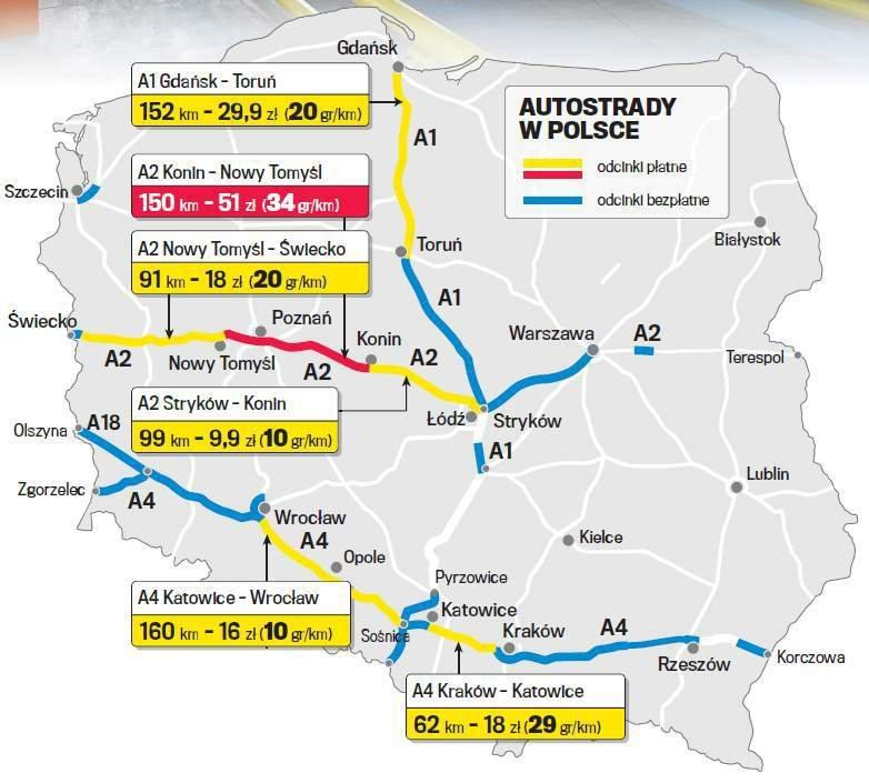 Znalezione obrazy dla zapytania autostrady w polsce