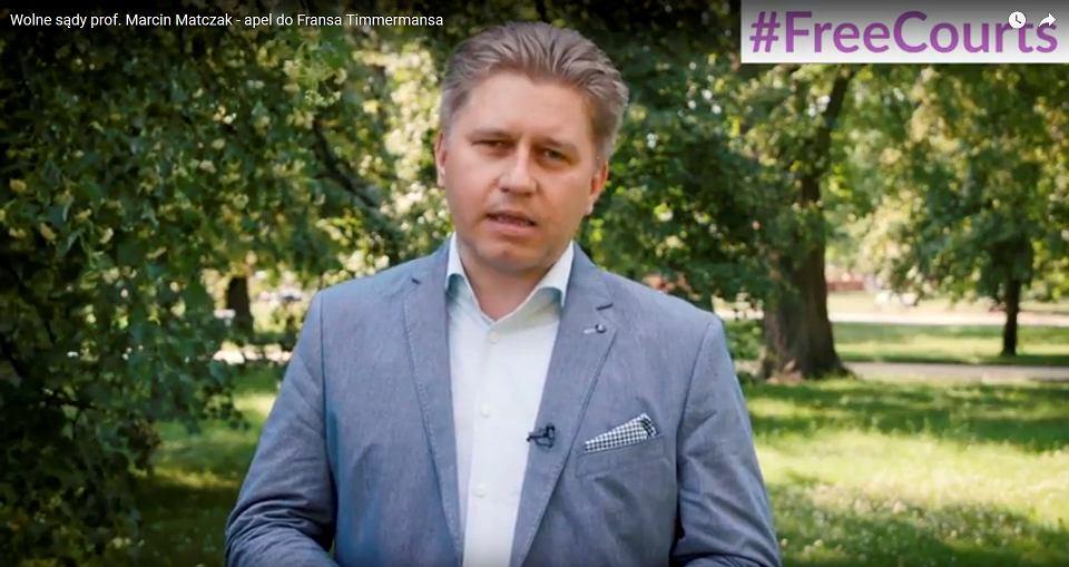 Wolne sądy prof. Marcin Matczak - apel do Fransa Timmermansa
