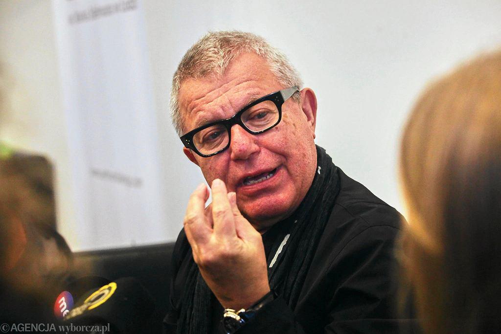 Daniel Libeskind podczas październikowej wizyty w Łodzi / MARCIN STĘPIEŃ