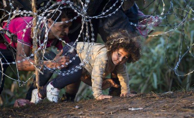 Uchod�cy na granicy serbsko-w�gierskiej