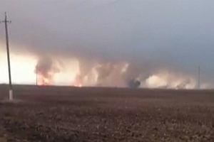 Potężne wybuchy na wschodzie Ukrainy