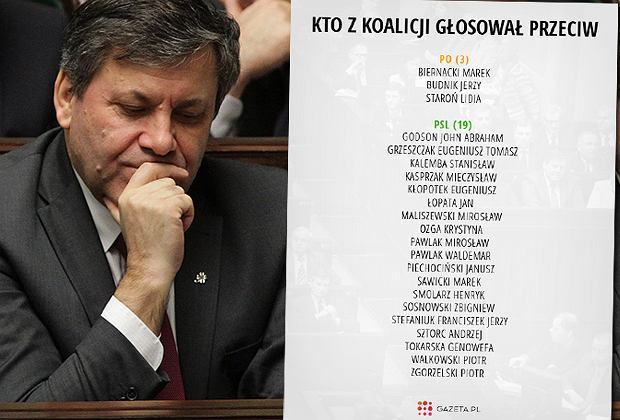 Nie wszyscy posłowie koalicji głosowali za konwencją antyprzemocową