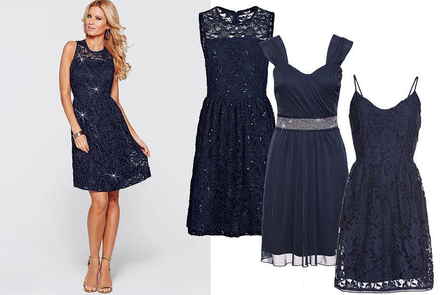 Granatowa Sukienka Klasyczna Propozycja Na Różne Okazje