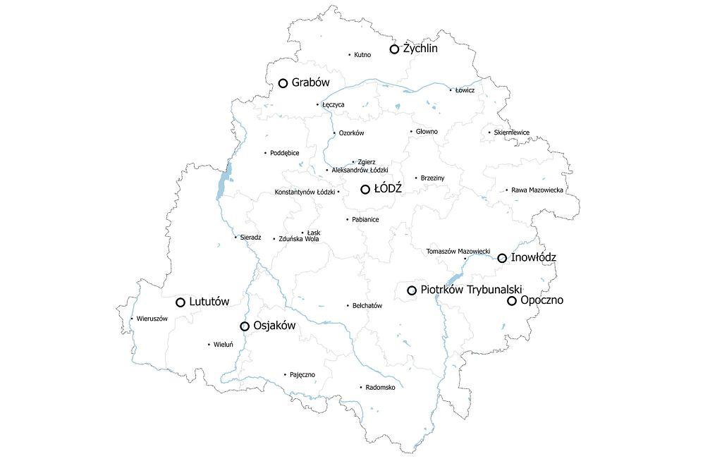 W tych miejscach w województwie łódzkim znajdują się byłe synagogi (fot. Piotr Urbański)