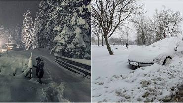 Kwietniowe opady śniegu zamieniły stolicę polskich tatr, Zakopane w bajkowa krainę śniegu.