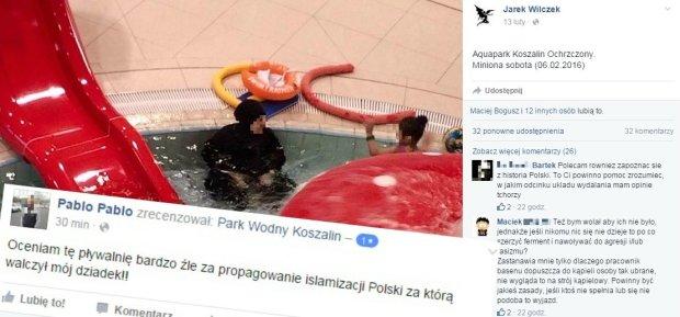 Fala hejtu przez zdj�cie muzu�manki na basenie w Koszalinie