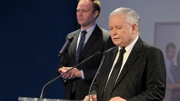 Marcin Mastalerek i Jarosław Kaczyński