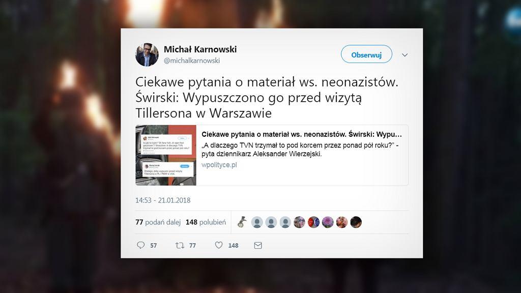Reakcja prawicy na materiał o neonazistach