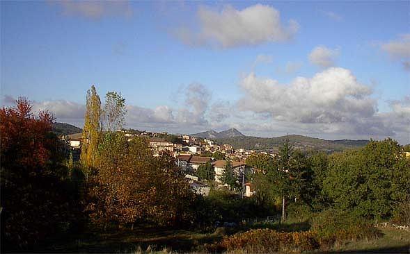 Panorama miejscowości Ollolai