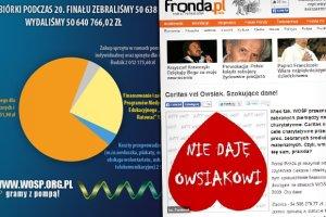 """""""Fronda"""": WO�P przeznacza tylko 54 proc. pieni�dzy na pomoc. WO�P: Wydajemy 100 proc. Mamy dowody"""