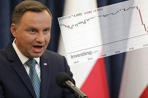 Natychmiastowe umocnienie złotego po wecie prezydenta. Widać, że rynek obserwuje sytuację wokół polskich sądów