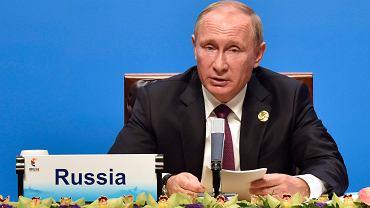 Prezydent Rosji Władimir Putin podczas trwającego w chińskim Xiamen szczytu państw BRICS