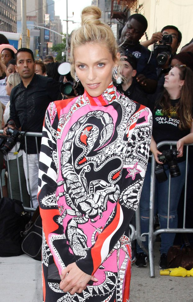 Pictured: Anja Rubik <br> Mandatory Credit   DDNY/Broadimage <br> 2015 amfAR Inspiration Gala New York - Arrivals<br> <P> 6/16/15, New York, New York, United States of America<br> <P> <B>Broadimage Newswire</B><br> Los Angeles 1+  (310) 301-1027<br> New York      1+  (646) 827-9134<br> sales@broadimage.com<br> http://www.broadimage.com<br>