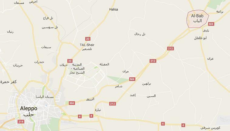 Do bombardowania doszło w rejonie Al-Bab