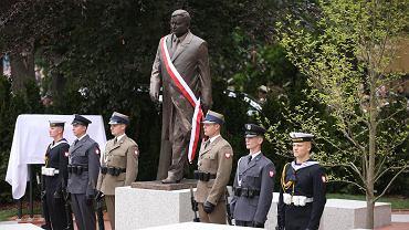 Odsłonięcie pomnika Lecha Kaczyńskiego w Szczecinie