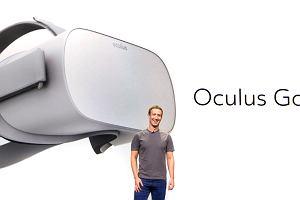 Mark Zuckerberg i jego wersja gogli do wirtualnej rzeczywistości. Ma być taniej i bezprzewodowo