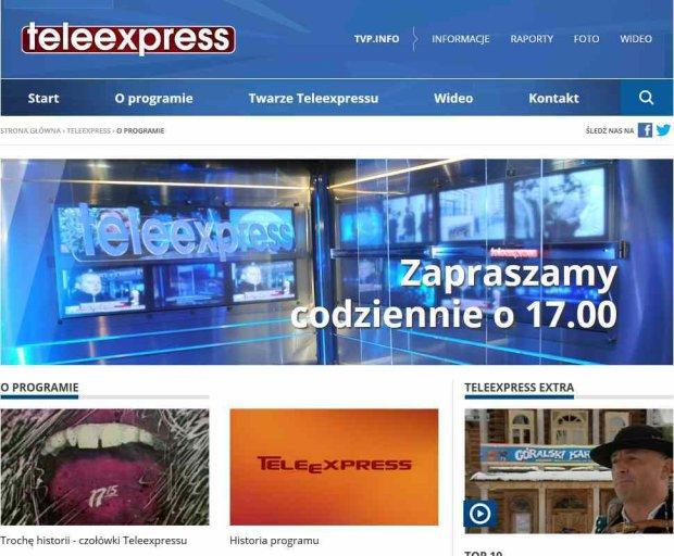 """""""Teleexpress"""" liderem w�r�d program�w informacyjnych. Sk�d sukces?"""
