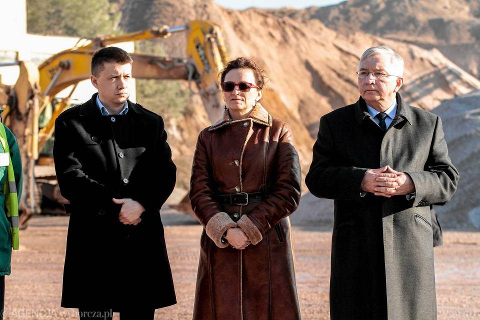 Styczeń 2016. Na zdjęciu Bartłomiej Dorywalski, Agata Wojtyszek i Krzysztof Lipiec