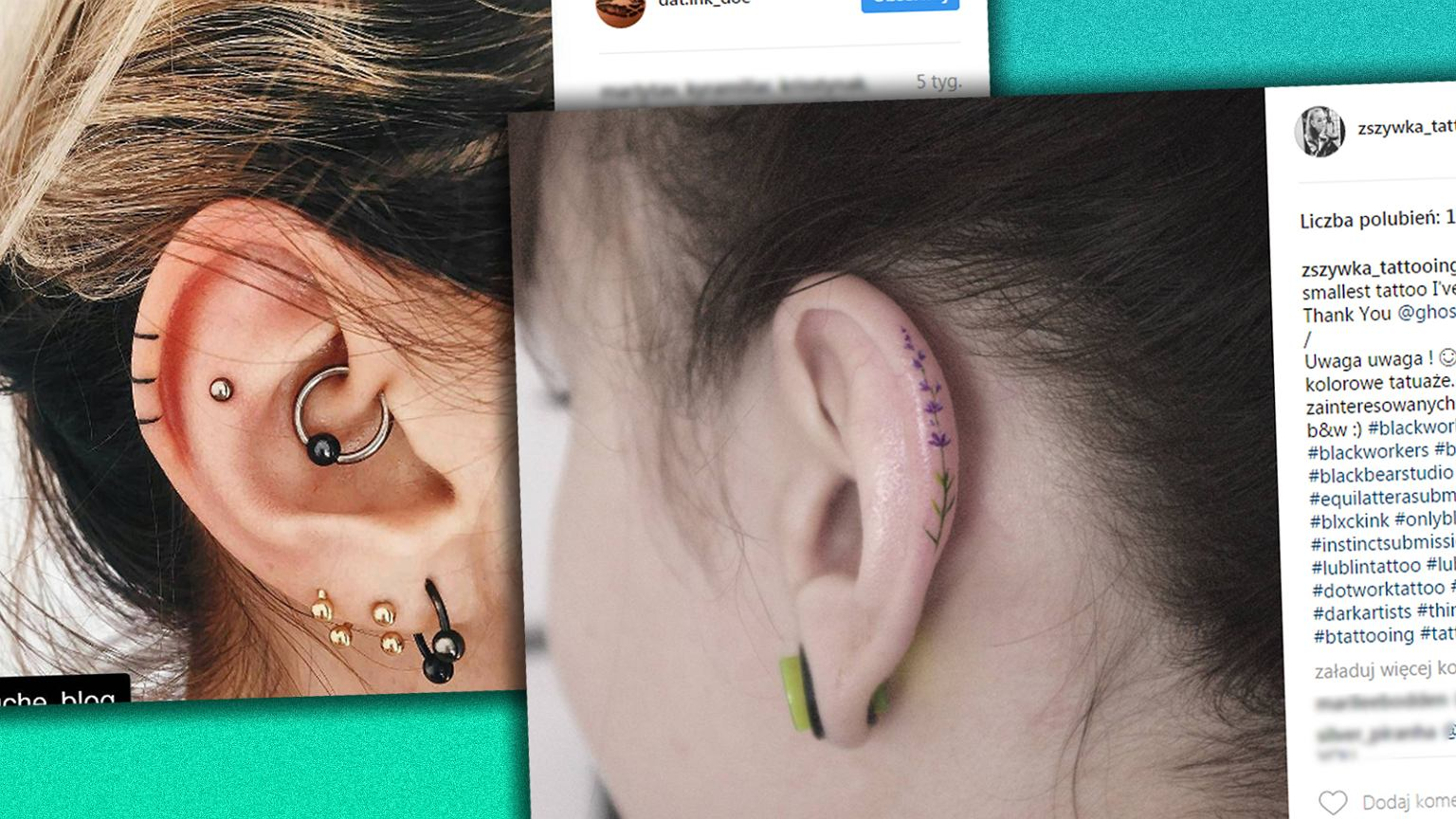 Minimalistyczne Tatuaże Na Płatku Ucha Nie Mogłyśmy Się Zdecydować