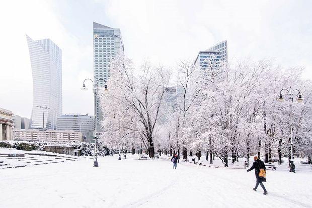 Białe centrum Warszawy