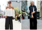 Stylizacje z szerokimi spodniami