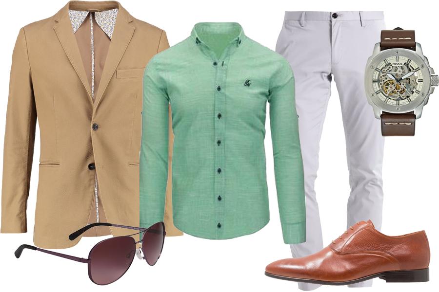 Stylizacja zielona koszula / Kolaż / Materiały partnera