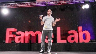 Dr Szymon Drobniak, zwycięzca polskiej edycji FameLab 2015