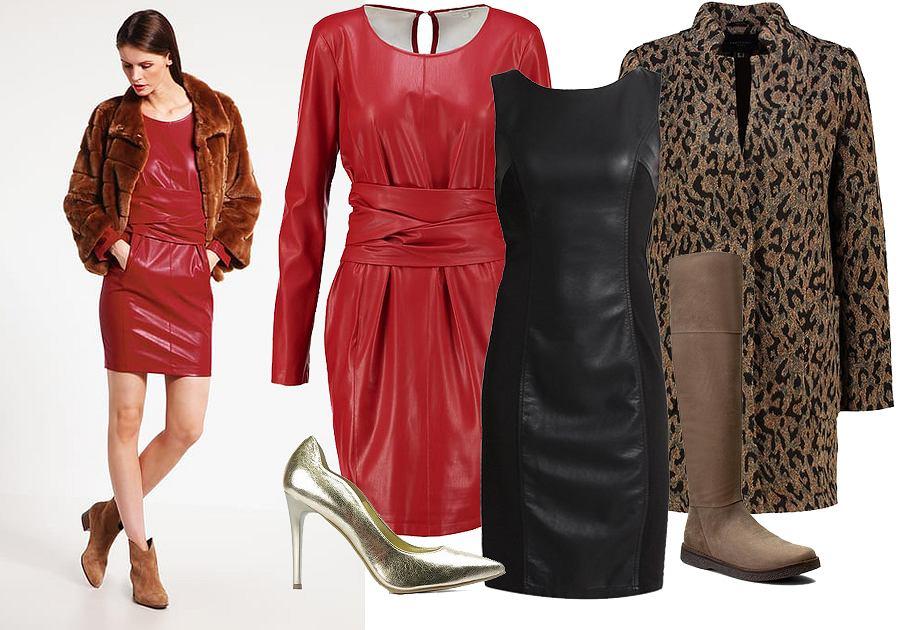 3311d24ff8 Skórzane sukienki w zimowych stylizacjach